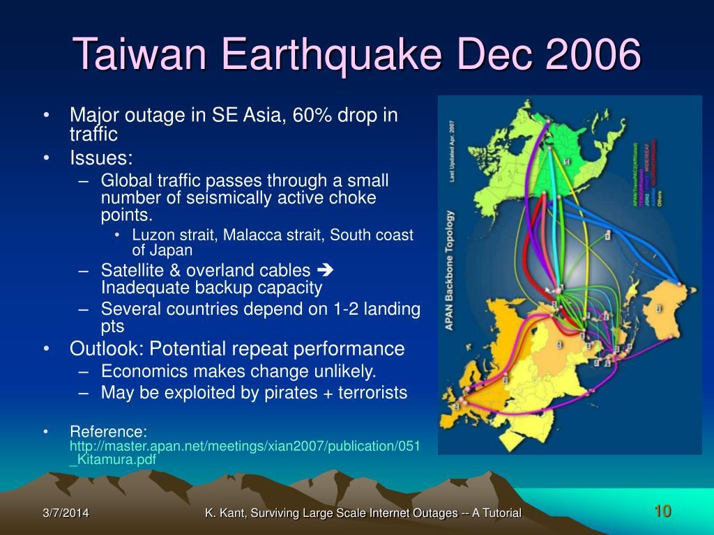 Taiwan Earthquake Dec 2006