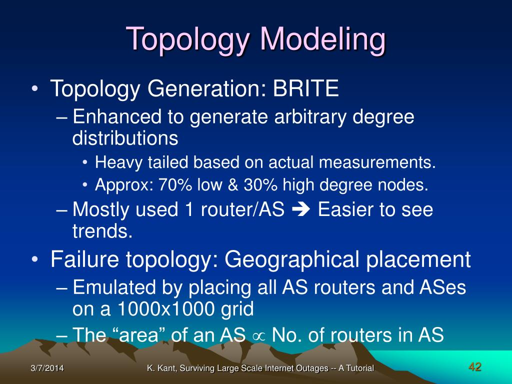 Topology Modeling