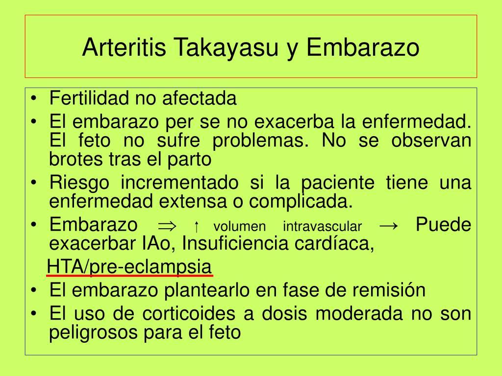Arteritis Takayasu y Embarazo