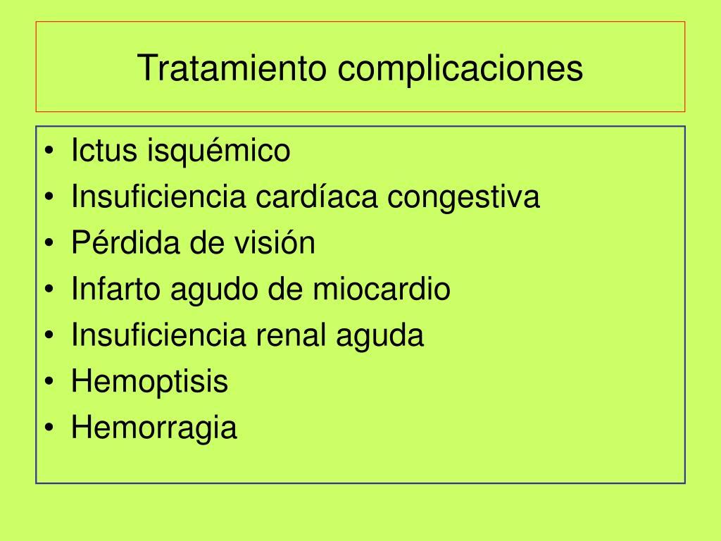 Tratamiento complicaciones