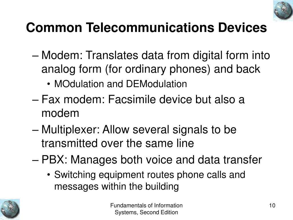 Common Telecommunications Devices