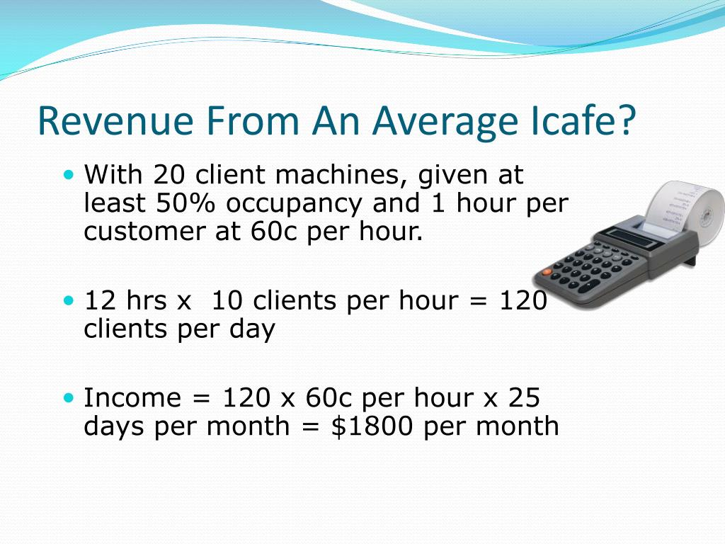 Revenue From An Average Icafe?