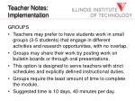 teacher notes implementation21