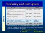 evaluating last mile options25