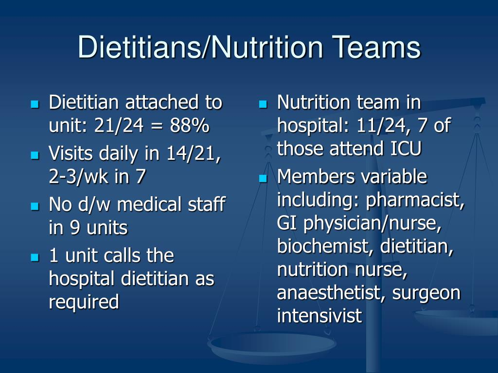 Dietitian attached to unit: 21/24 = 88%
