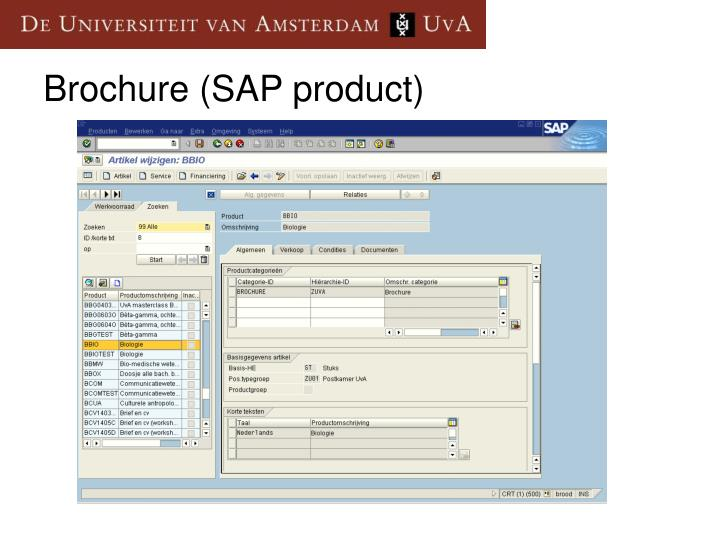 Brochure (SAP product)