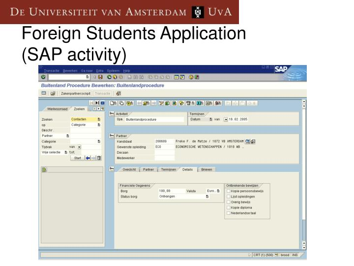 Foreign Students Application
