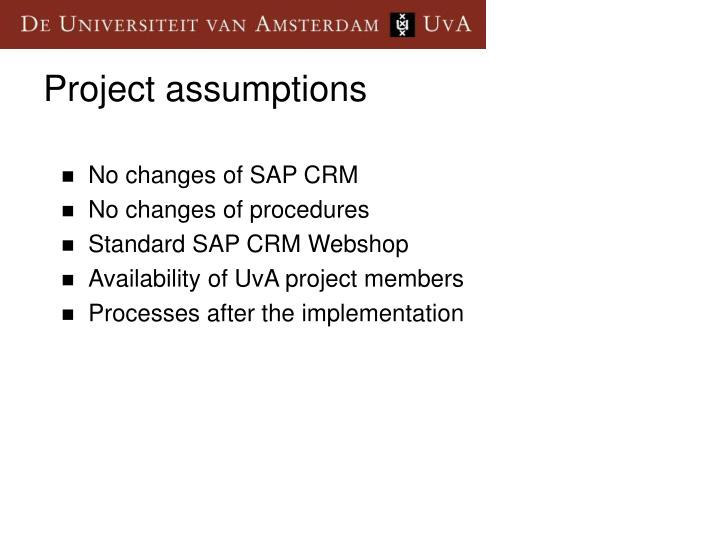No changes of SAP CRM