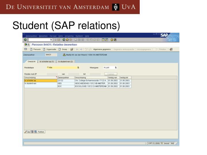 Student (SAP relations)