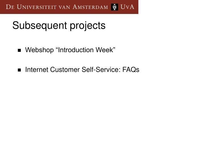 "Webshop ""Introduction Week"""