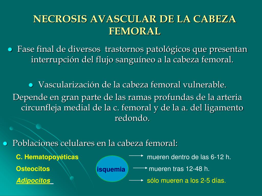 NECROSIS AVASCULAR DE LA CABEZA FEMORAL