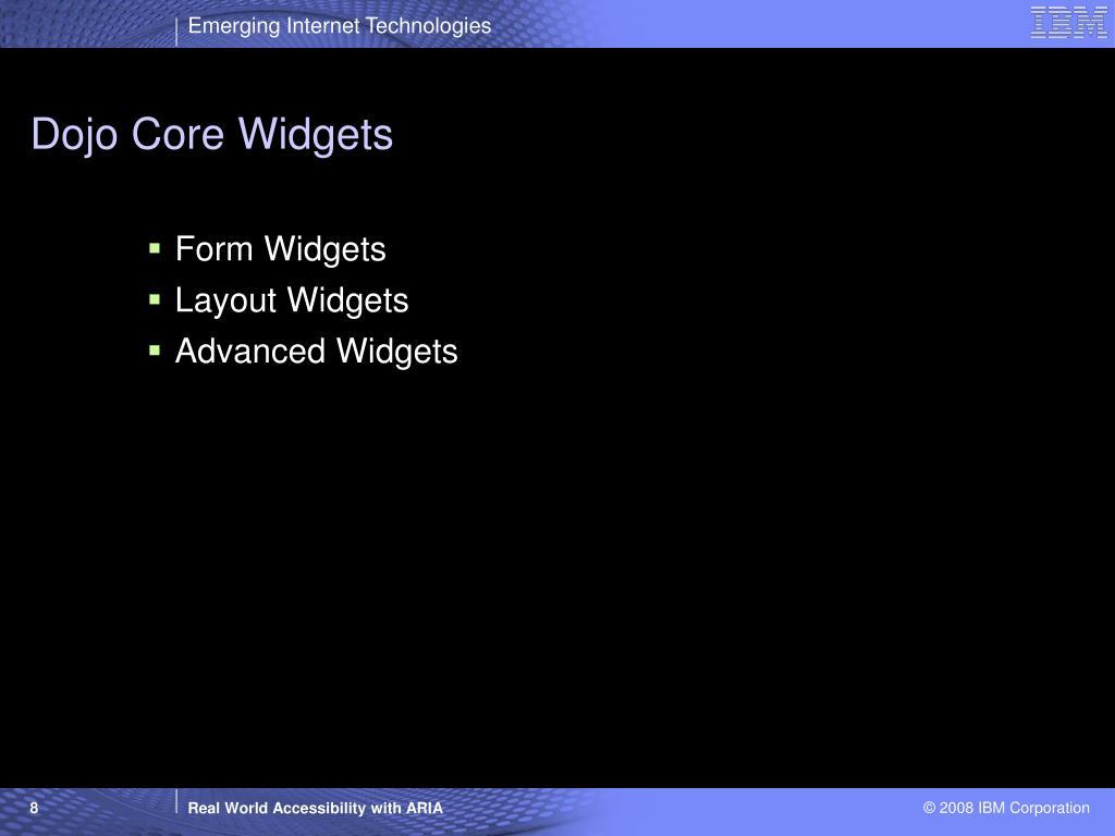 Dojo Core Widgets