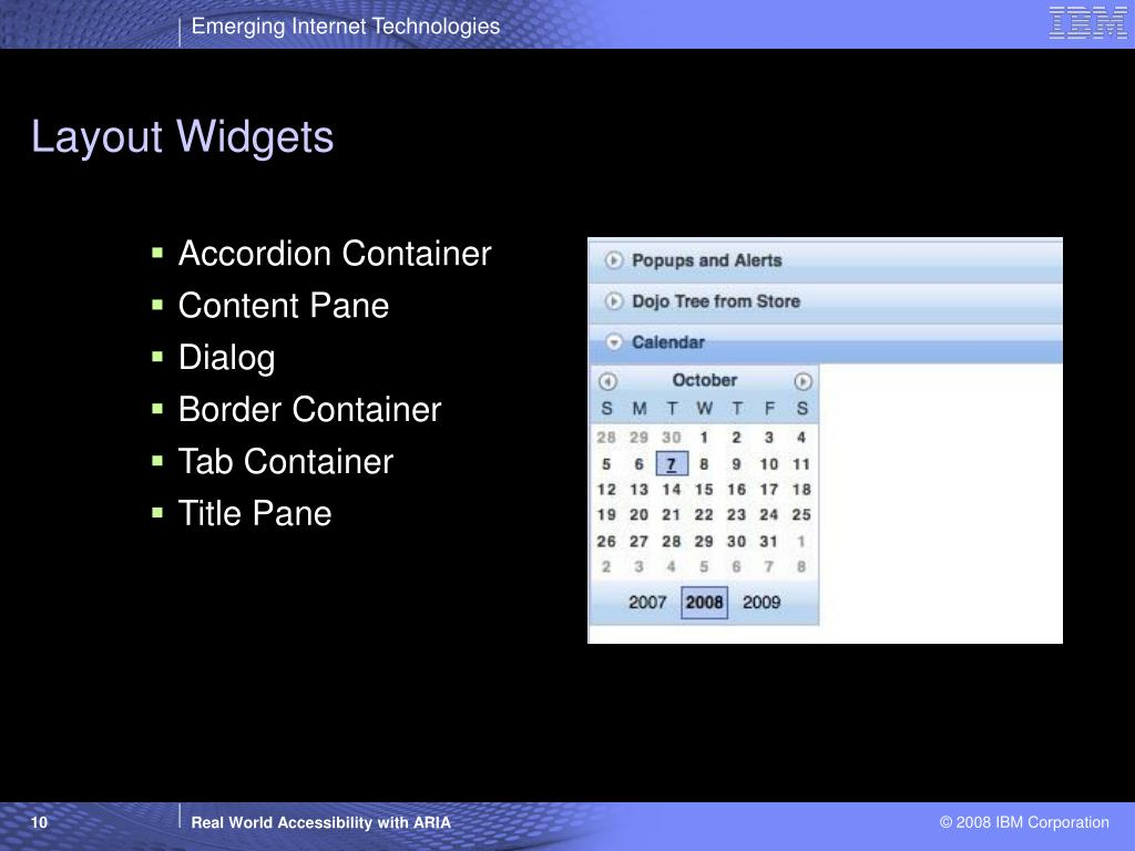 Layout Widgets