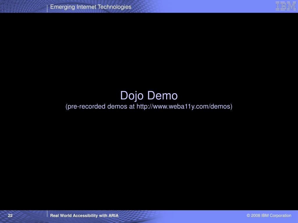 Dojo Demo