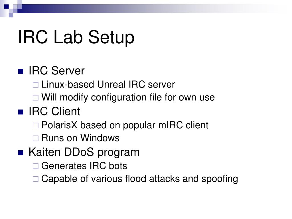 IRC Lab Setup