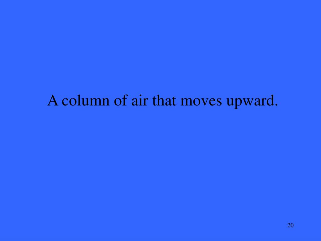 A column of air that moves upward.