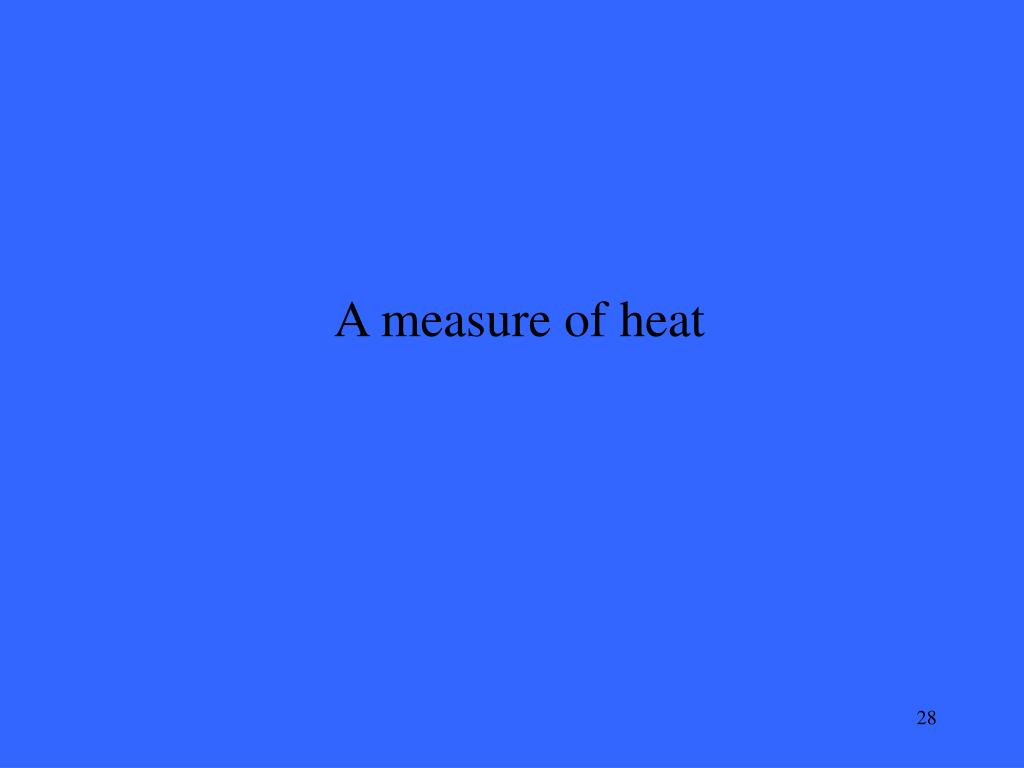 A measure of heat