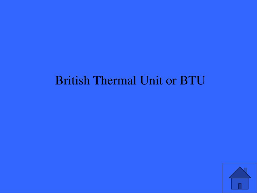 British Thermal Unit or BTU
