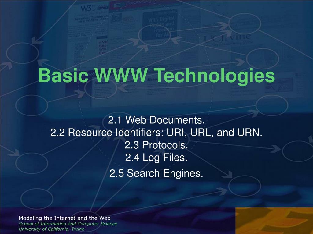 Basic WWW Technologies