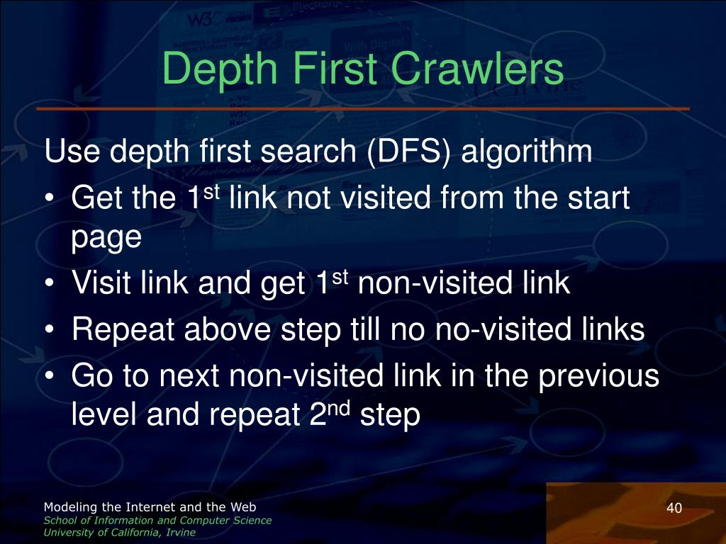 Depth First Crawlers