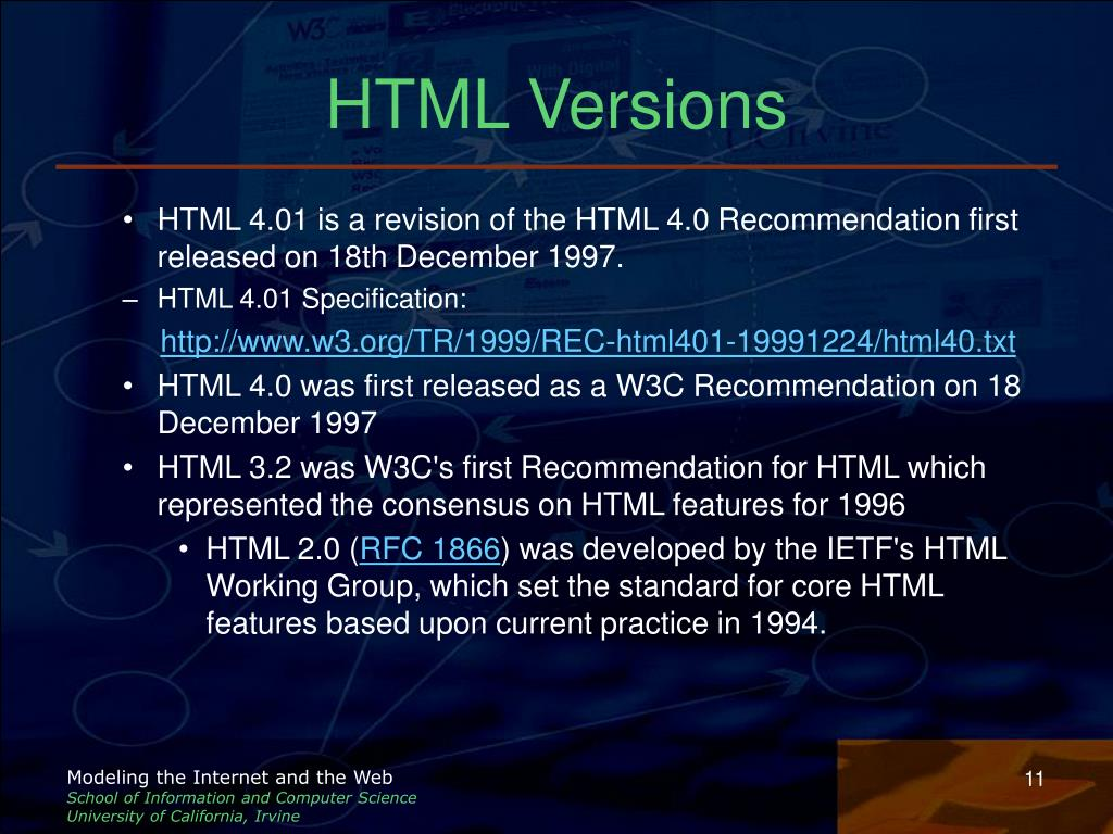 HTML Versions
