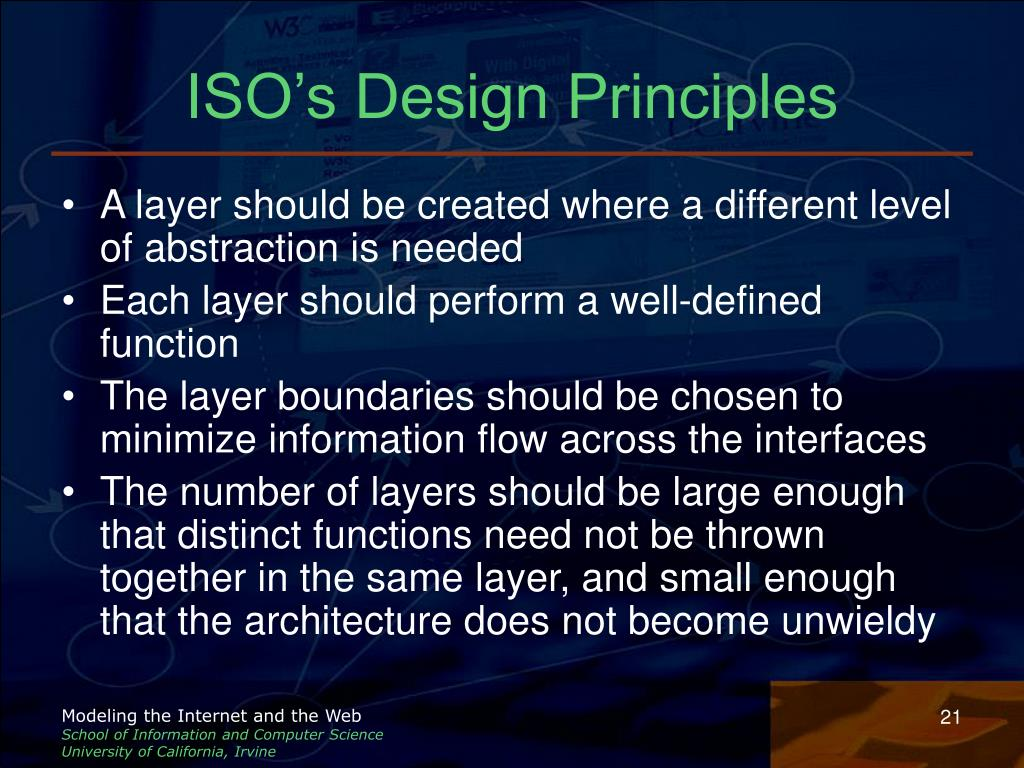 ISO's Design Principles