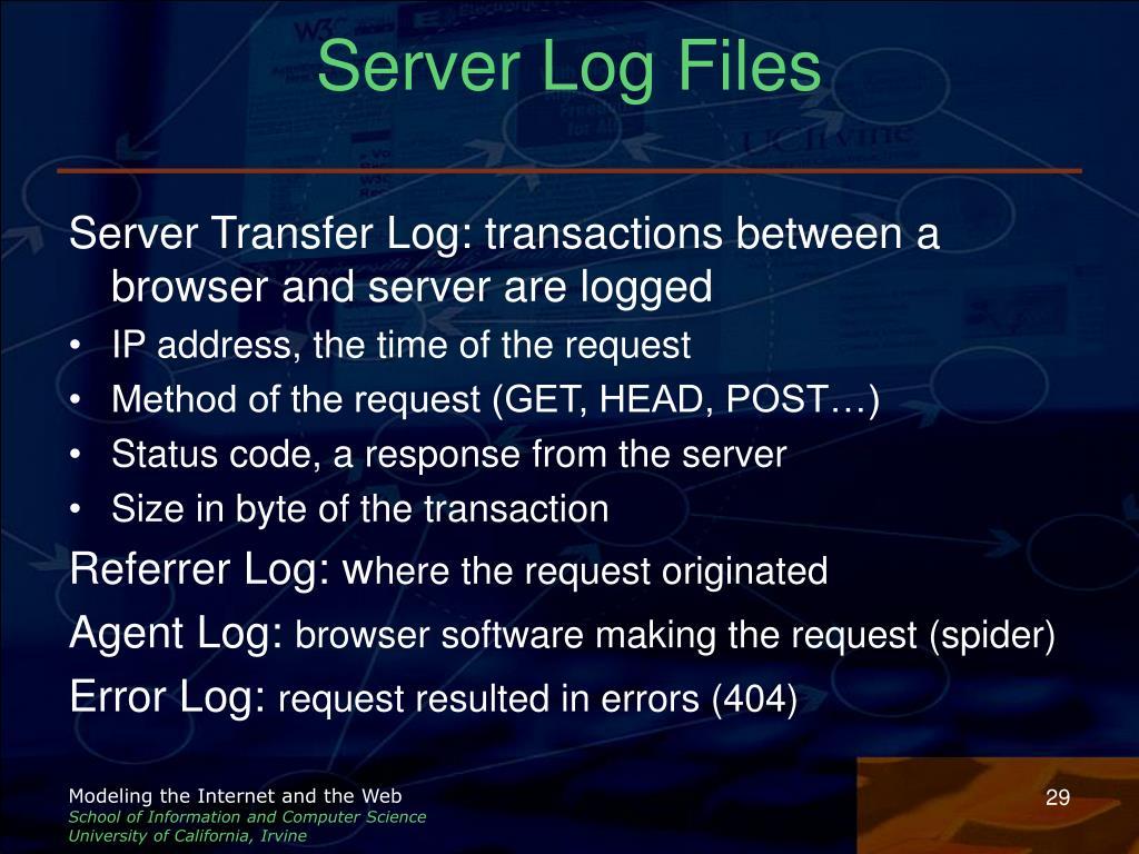 Server Log Files
