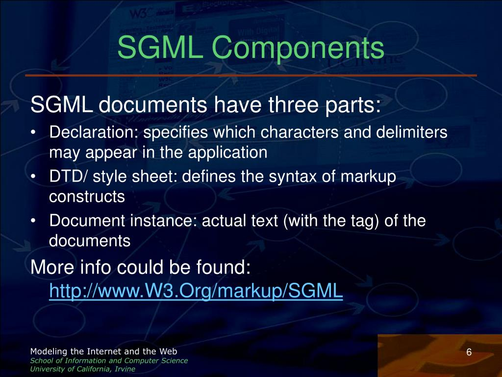 SGML Components