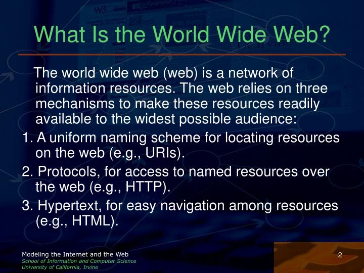 What is the world wide web l.jpg