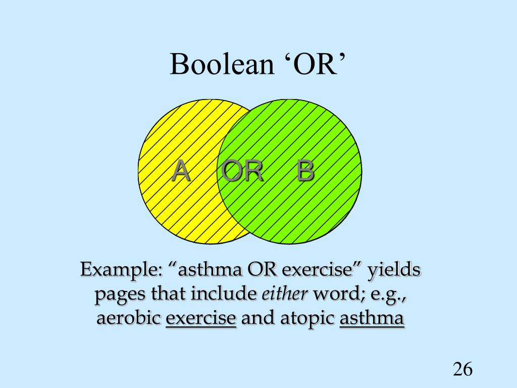 Boolean 'OR'