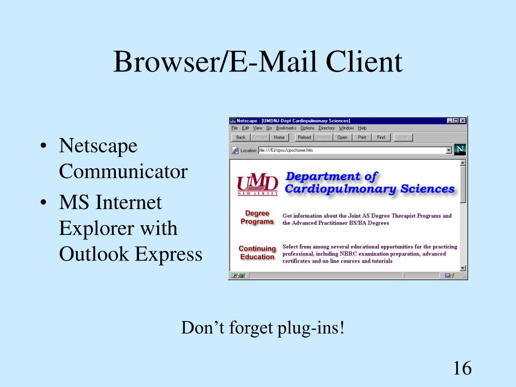 Browser/E-Mail Client