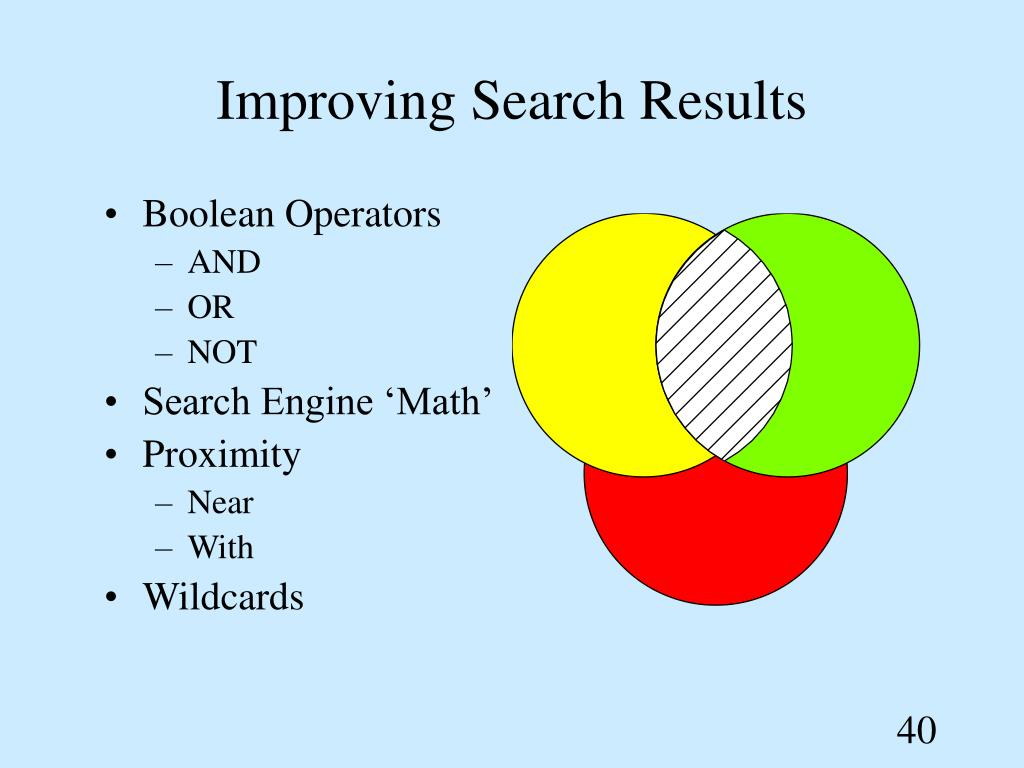Improving Search Results