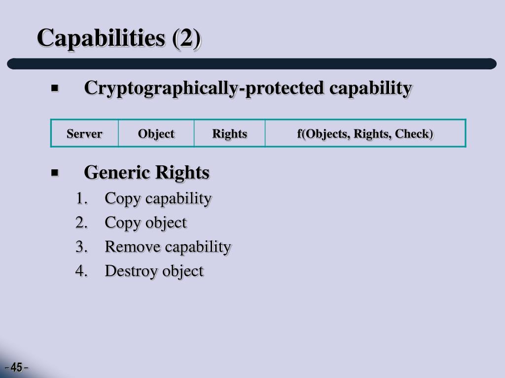 Capabilities (2)