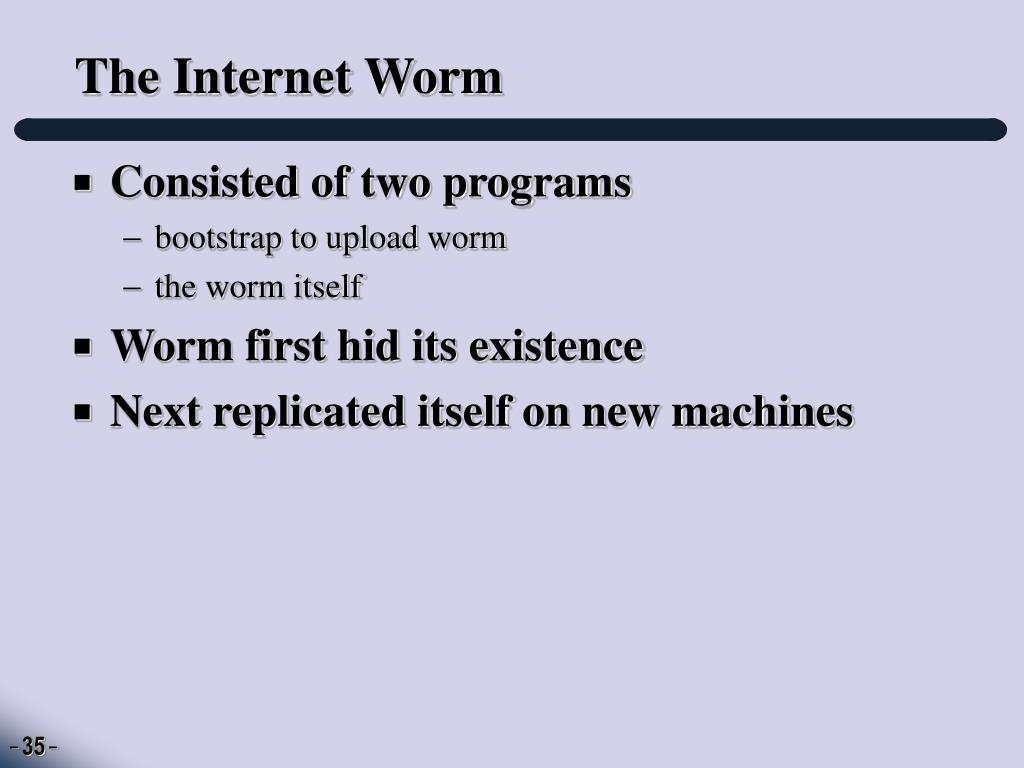 The Internet Worm