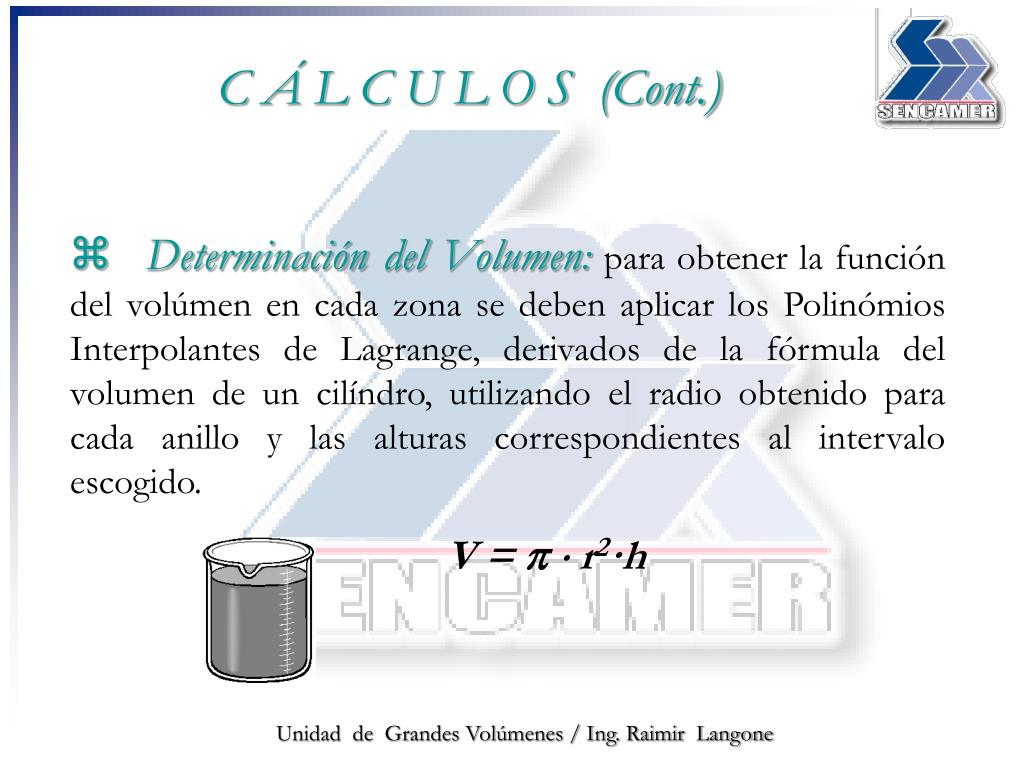 Determinación del Volumen