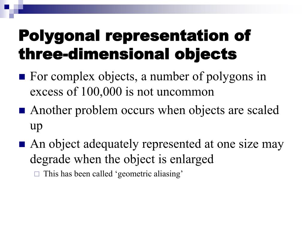 Polygonal representation of three-dimensional objects