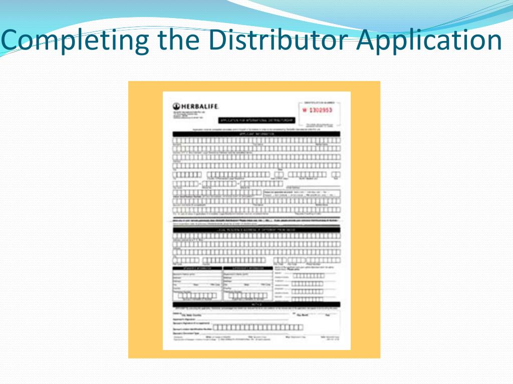 Completing the Distributor Application