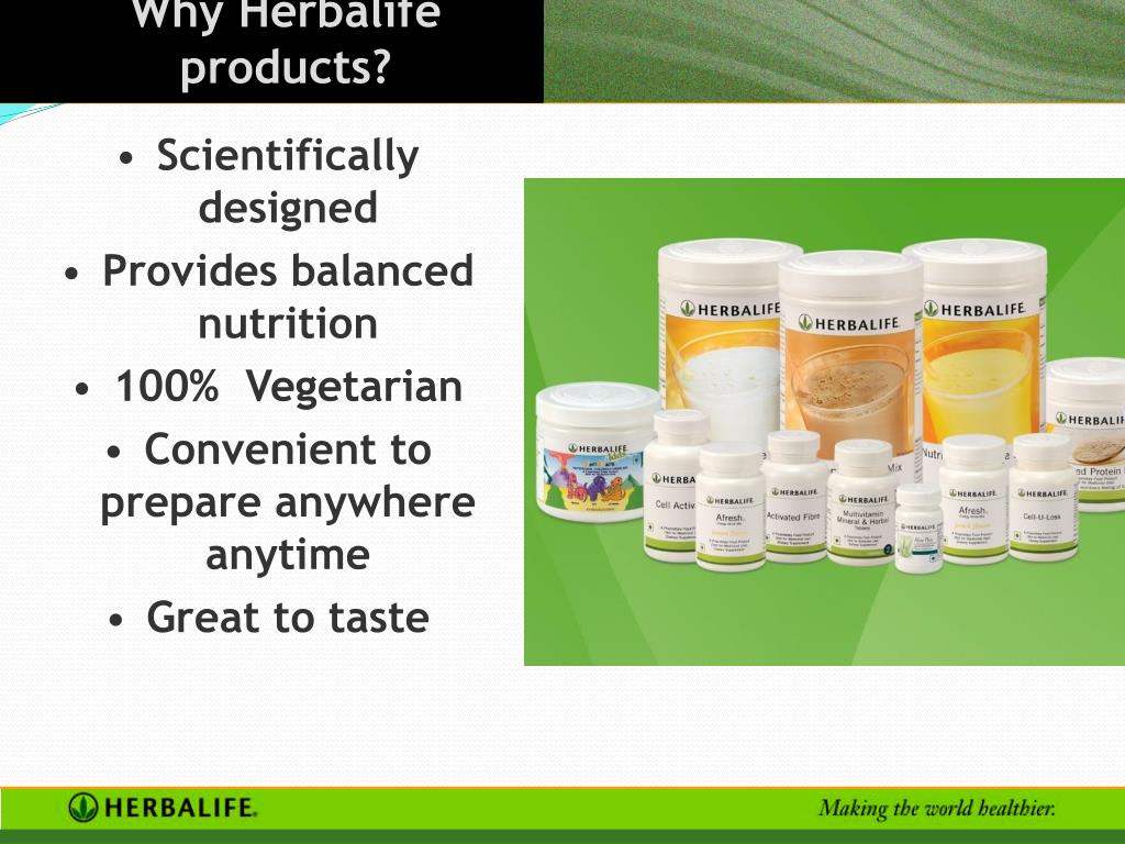 Why Herbalife products?