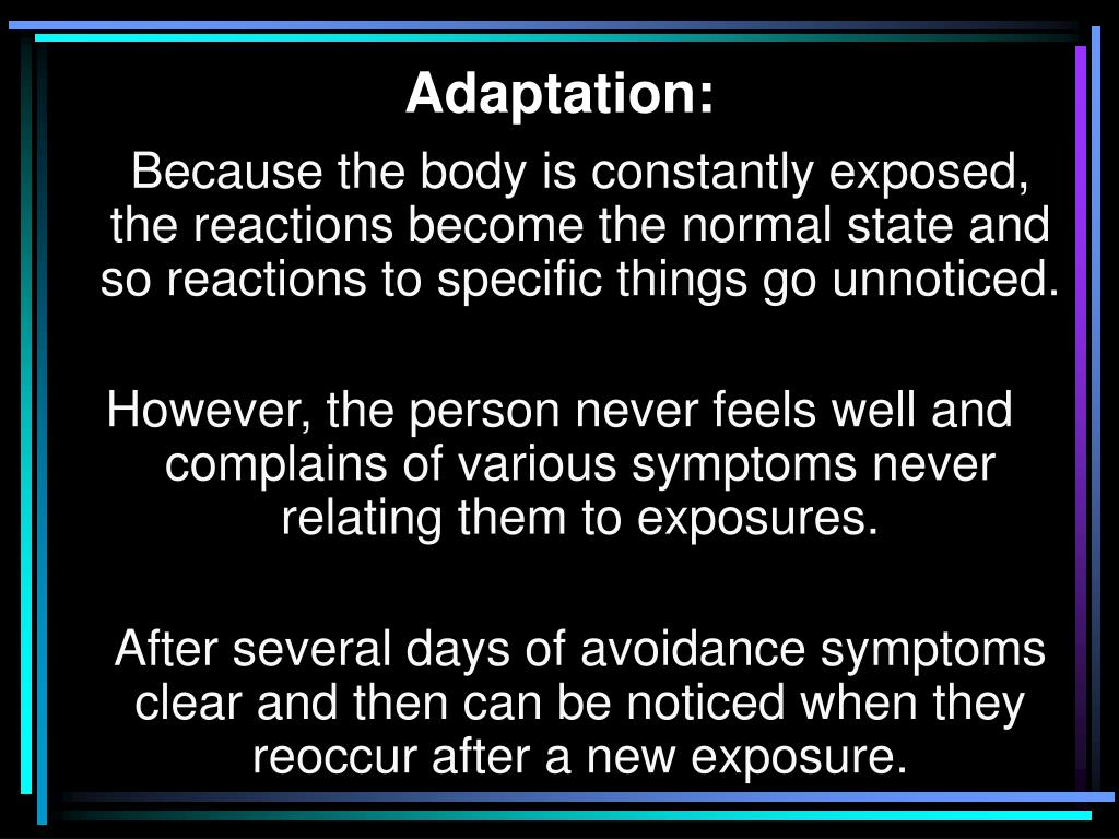 Adaptation: