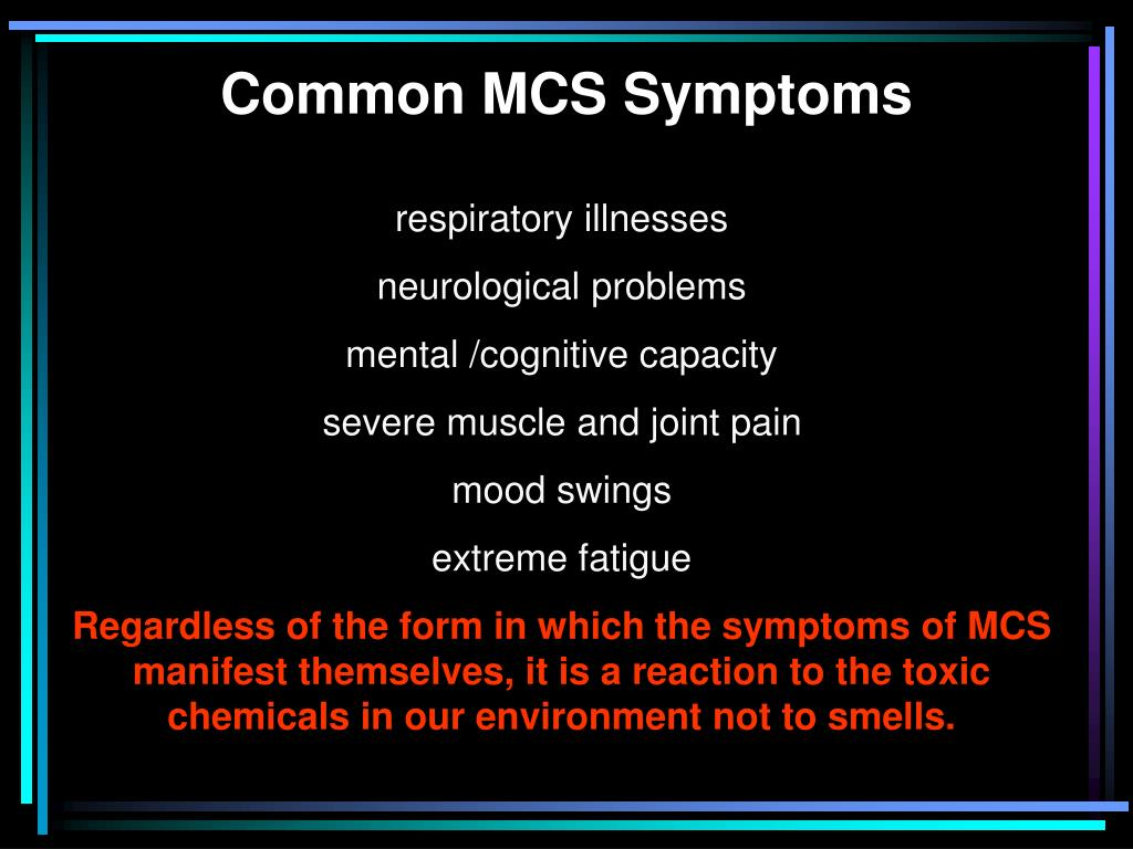 Common MCS Symptoms