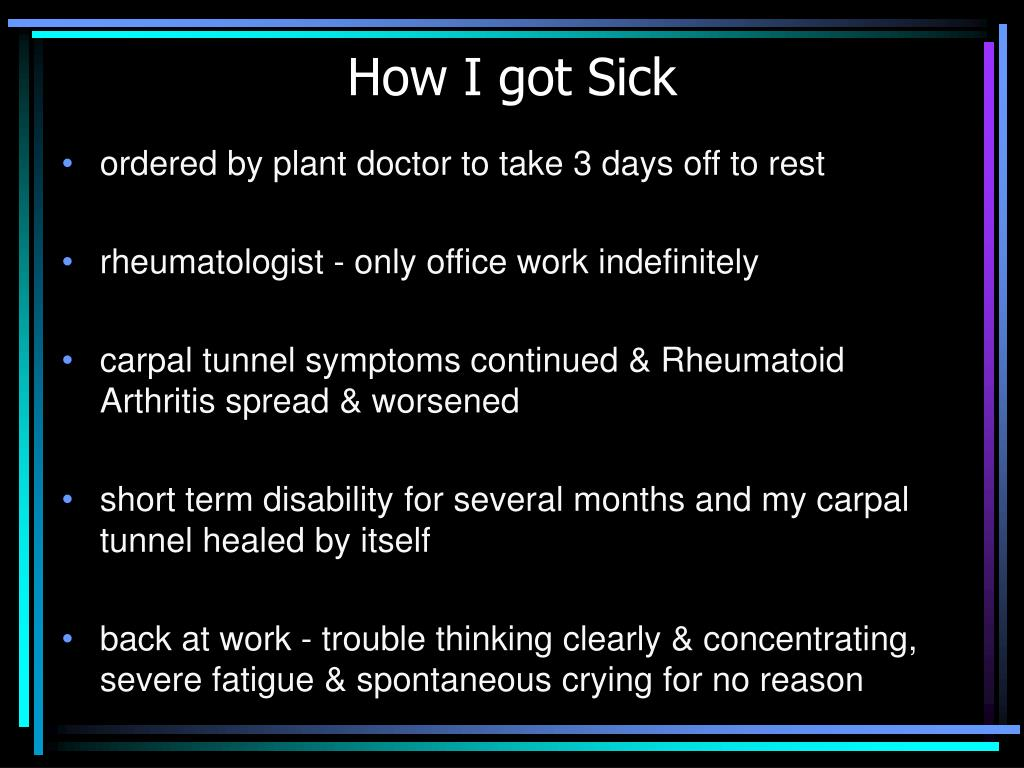 How I got Sick