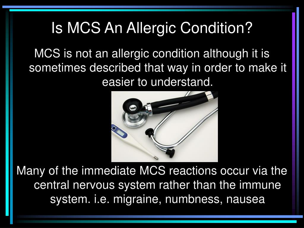 Is MCS An Allergic Condition?