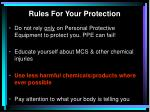 rules for your protection