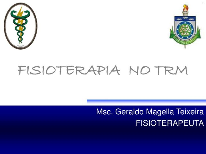 Fisioterapia no trm