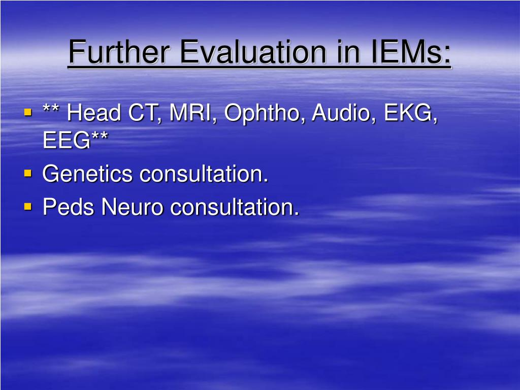 Further Evaluation in IEMs: