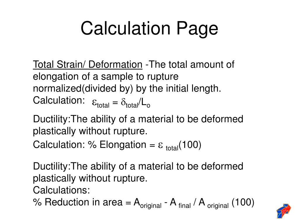 Calculation Page