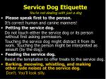 service dog etiquette you re not dealing with just a dog