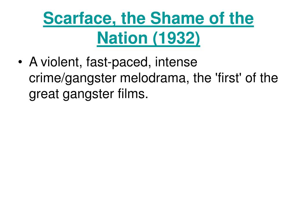 Scarface, the Shame of the Nation (1932)