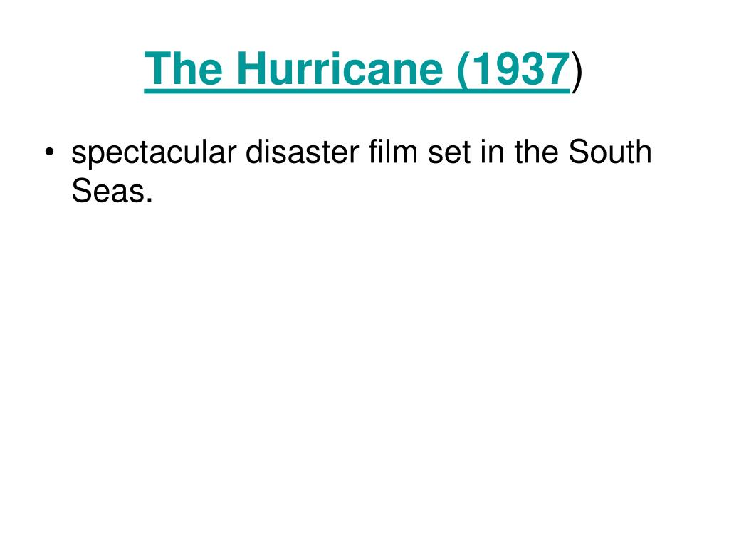 The Hurricane (1937