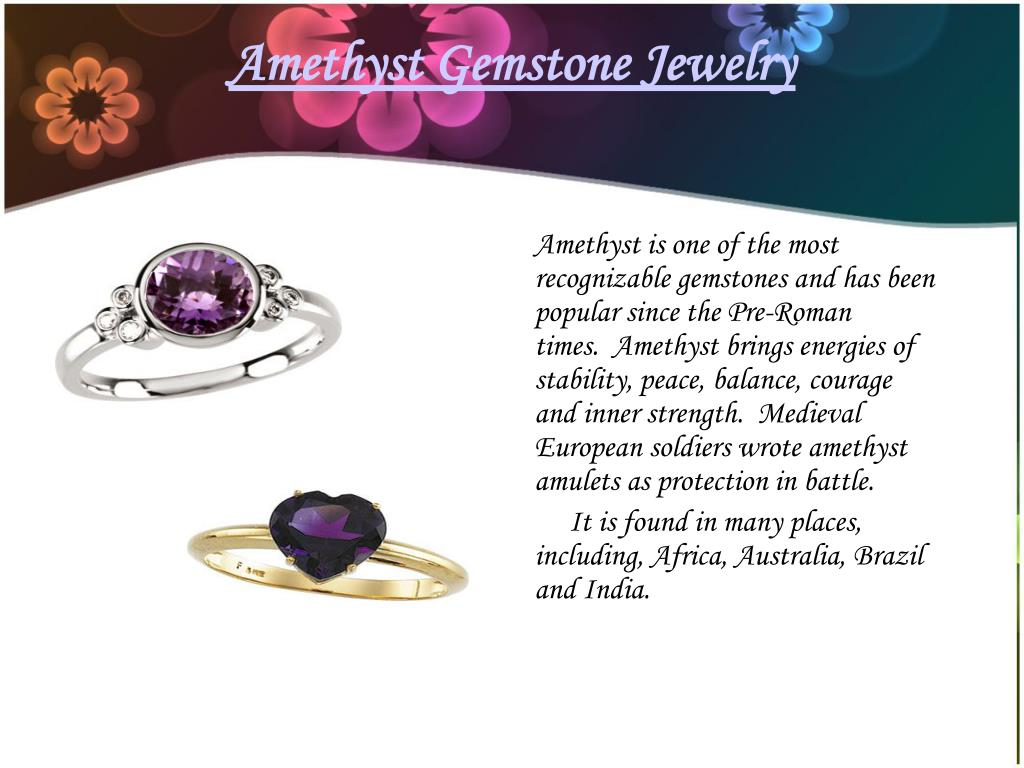Amethyst Gemstone Jewelry